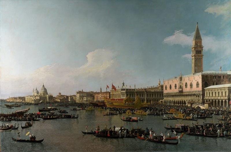 Canaletto - Venice - The Basin of San Marco on Ascension Day. Part 1 National Gallery UK