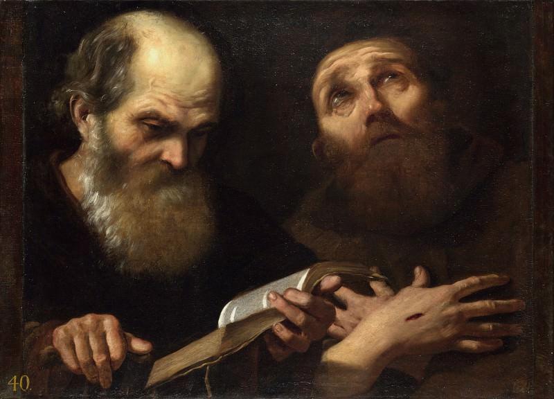 Андреа Сакки - Святые Антоний Аббат и Франциск Ассизский. Часть 1 Национальная галерея
