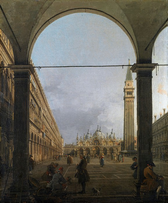 Canaletto - Venice - Piazza San Marco. Part 1 National Gallery UK