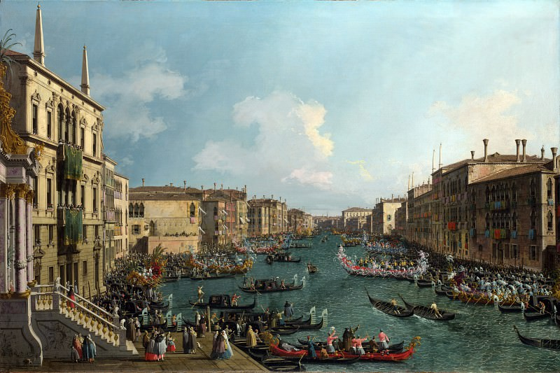 Canaletto - A Regatta on the Grand Canal. Part 1 National Gallery UK