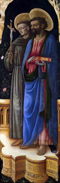 Antonio Vivarini and Giovanni dAlemagna - Saints Francis and Mark. Part 1 National Gallery UK