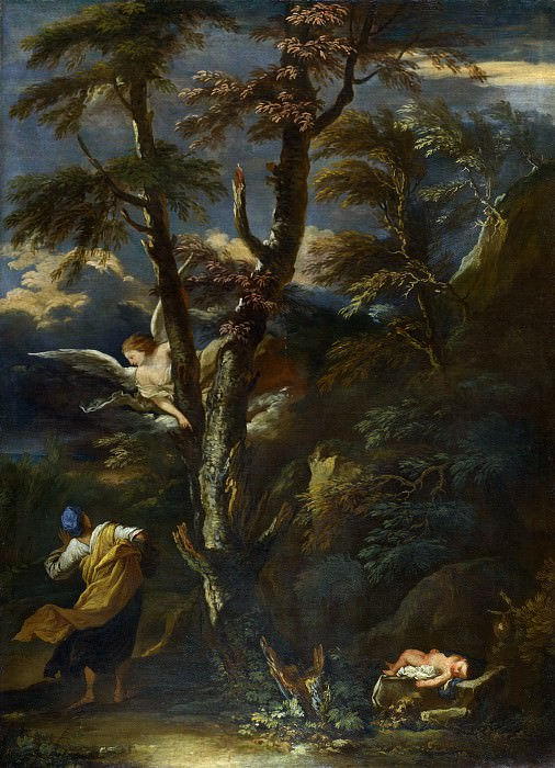 After Salvator Rosa - An Angel appears to Hagar and Ishmael in the Desert. Part 1 National Gallery UK