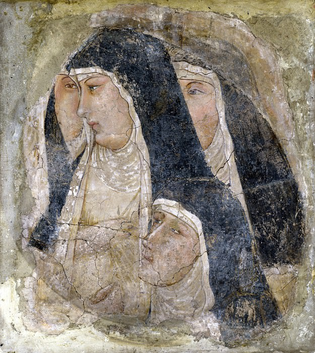 Ambrogio Lorenzetti - A Group of Poor Clares. Part 1 National Gallery UK