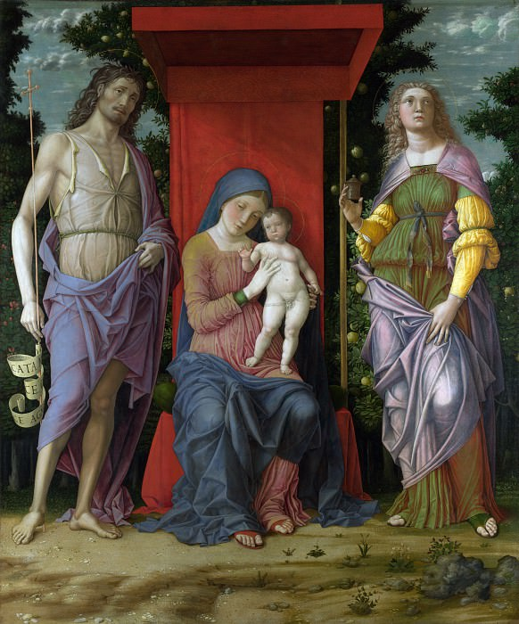 Andrea Mantegna - The Virgin and Child with Saints. Part 1 National Gallery UK