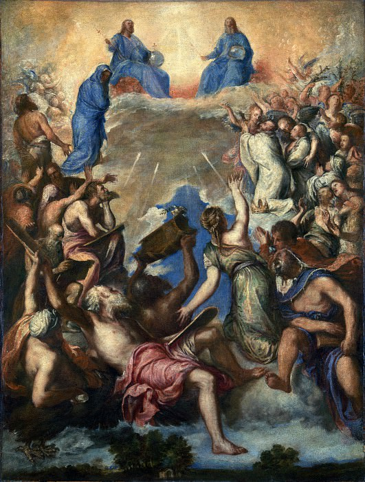 After Titian - The Trinity (La Gloria). Part 1 National Gallery UK