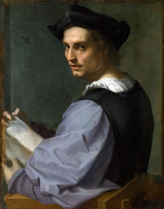 Andrea del Sarto - Portrait of a Young Man. Part 1 National Gallery UK