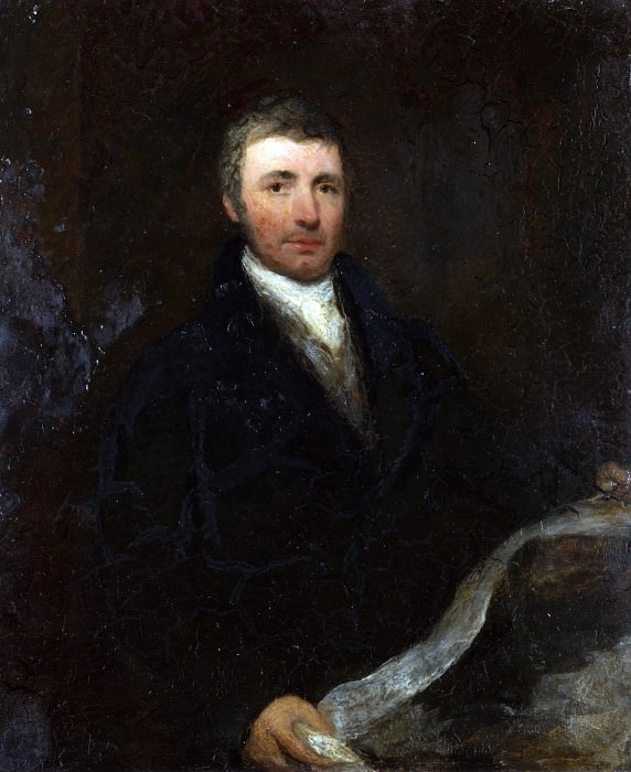 Английская школа (возможно сэр Уильям Бокселл) - Портрет 45-летнего мужчины. Часть 1 Национальная галерея