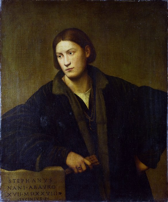 Bernardino Licinio - Portrait of Stefano Nani. Part 1 National Gallery UK