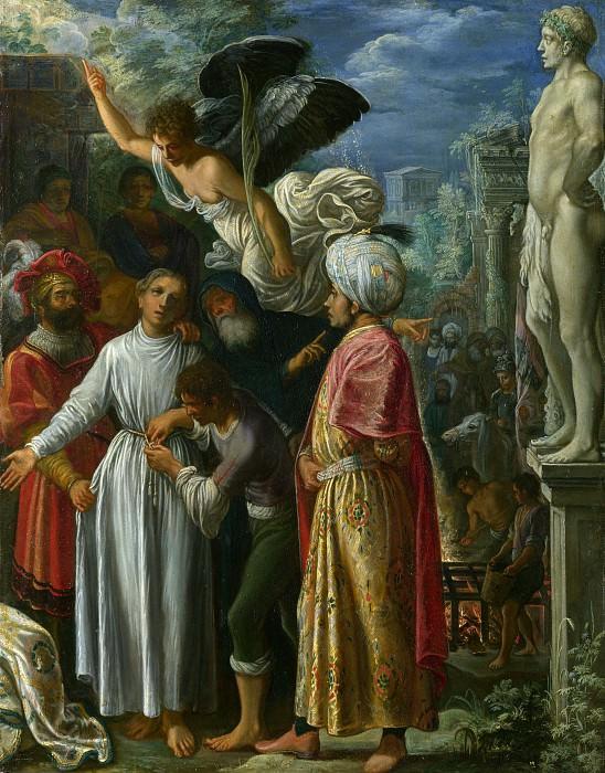 Adam Elsheimer - Saint Lawrence prepared for Martyrdom. Part 1 National Gallery UK