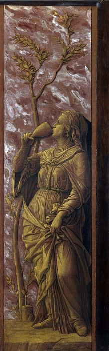 Andrea Mantegna - A Woman Drinking. Part 1 National Gallery UK