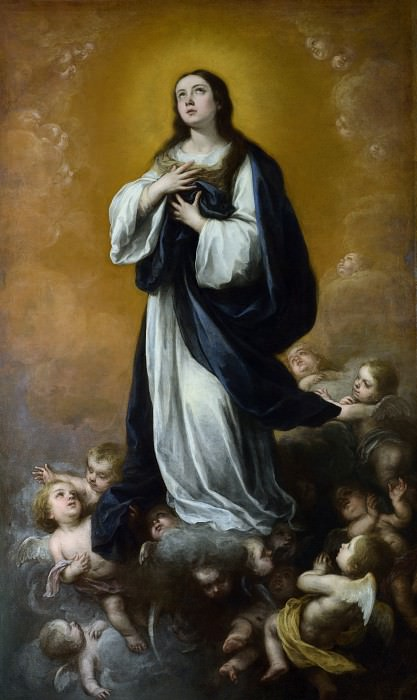 Bartolome Esteban Murillo and studio - The Immaculate Conception of the Virgin. Part 1 National Gallery UK