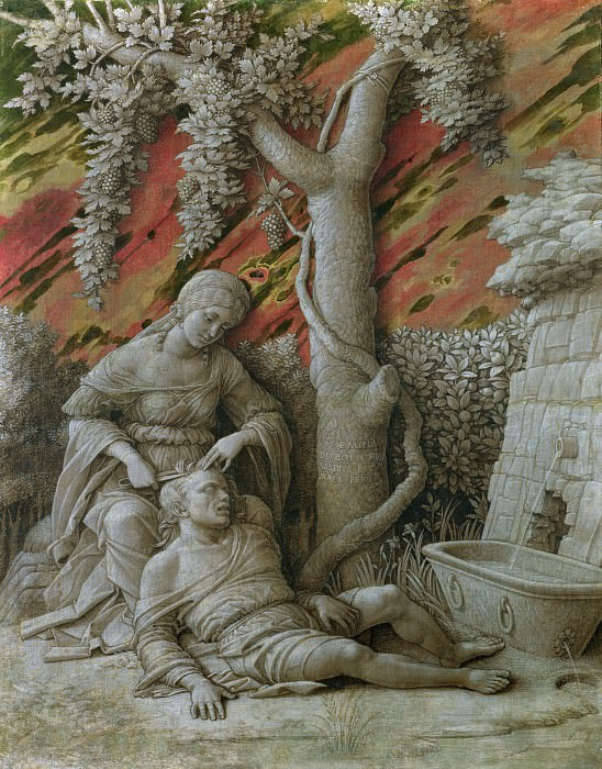 Andrea Mantegna - Samson and Delilah. Part 1 National Gallery UK