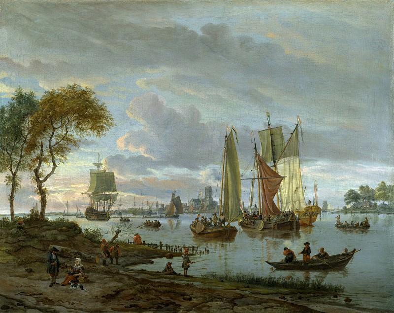 Абрахам Сторк - Вид на реку. Часть 1 Национальная галерея