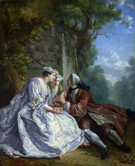 Жан-Франсуа де Труа (последователь) - Игра в Pied de Boeuf. Часть 1 Национальная галерея