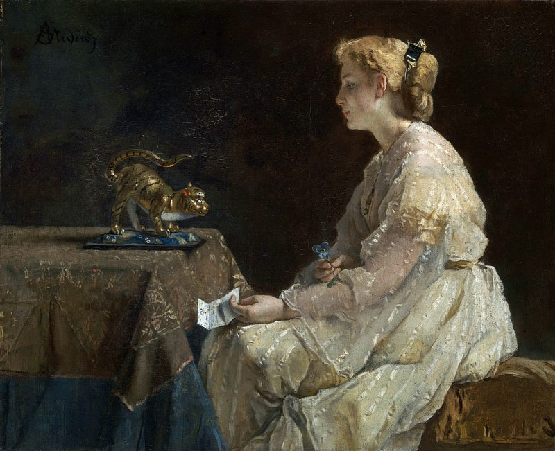 Alfred Stevens - The Present. Part 1 National Gallery UK