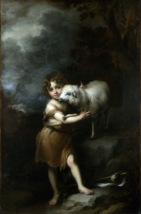 Bartolome Esteban Murillo - The Infant Saint John with the Lamb. Part 1 National Gallery UK