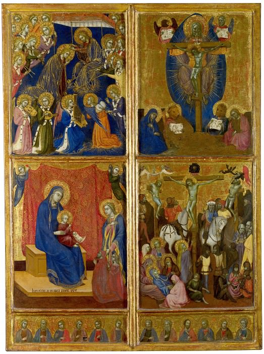 Barnaba da Modena - Scenes of the Virgin; The Trinity; The Crucifixion. Part 1 National Gallery UK