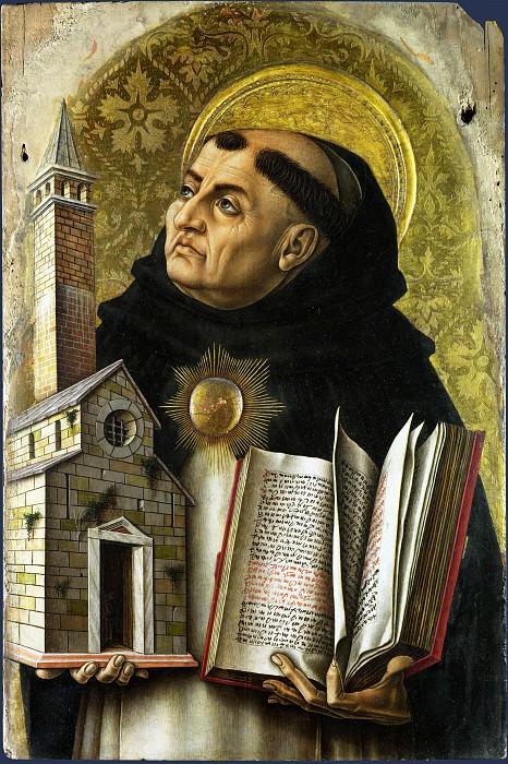 Carlo Crivelli - Saint Thomas Aquinas. Part 1 National Gallery UK