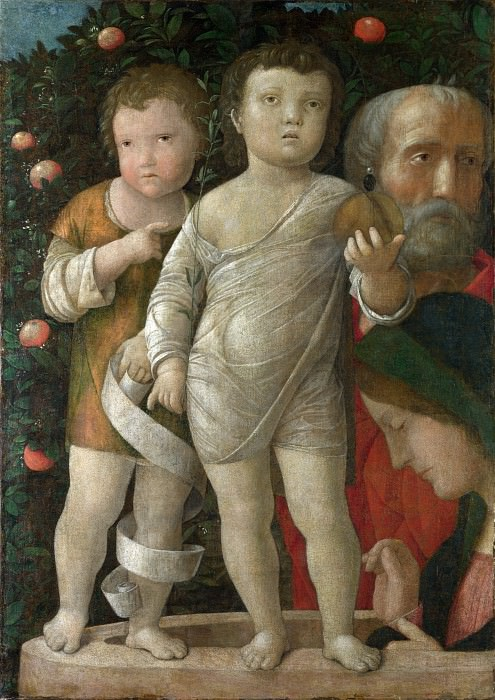Andrea Mantegna - The Holy Family with Saint John. Part 1 National Gallery UK