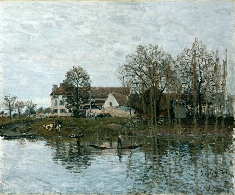 Alfred Sisley - The Seine at Port-Marly. Part 1 National Gallery UK