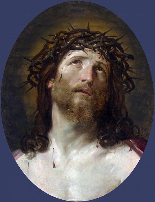 Голова Христа, увенчанная тернием. Гвидо Рени (последователь)