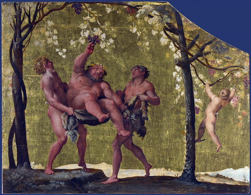 Annibale Carracci - Silenus gathering Grapes. Part 1 National Gallery UK