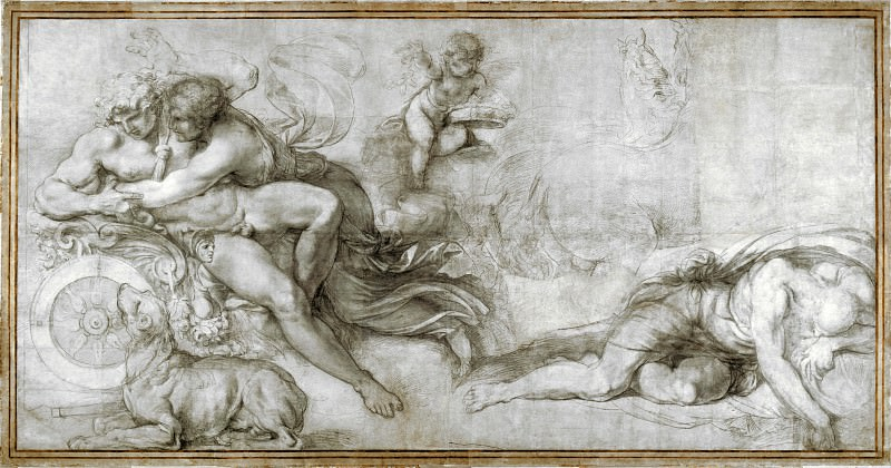 Agostino Carracci - Cephalus carried off by Aurora in her Chariot. Part 1 National Gallery UK