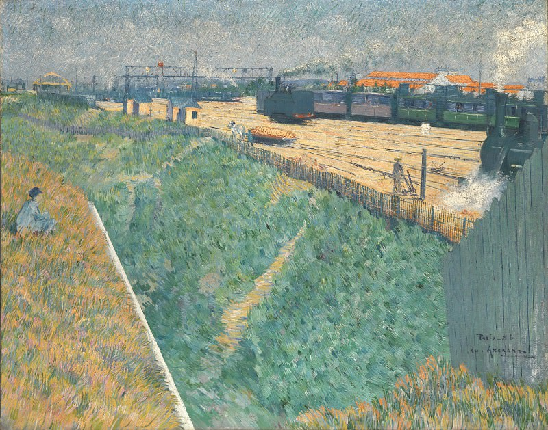 Charles Angrand - The Western Railway at its Exit from Paris. Part 1 National Gallery UK