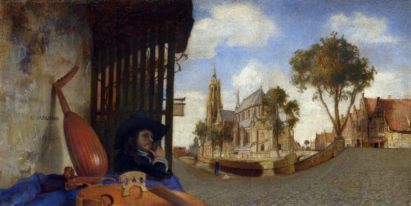 Carel Fabritius - A View of Delft. Part 1 National Gallery UK