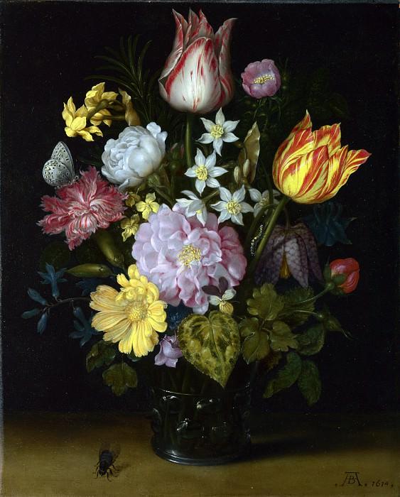 Амбросиус Босхарт I - Цветы в стеклянной вазе. Часть 1 Национальная галерея