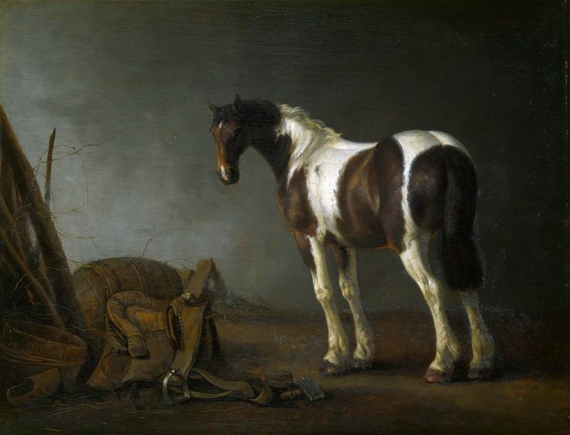 Абрахам ван Кальрат - Лошадь и седло рядом с ней. Часть 1 Национальная галерея