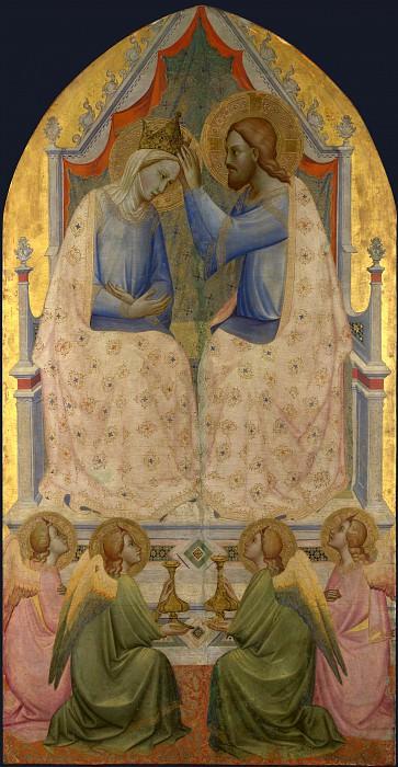 Agnolo Gaddi - The Coronation of the Virgin. Part 1 National Gallery UK