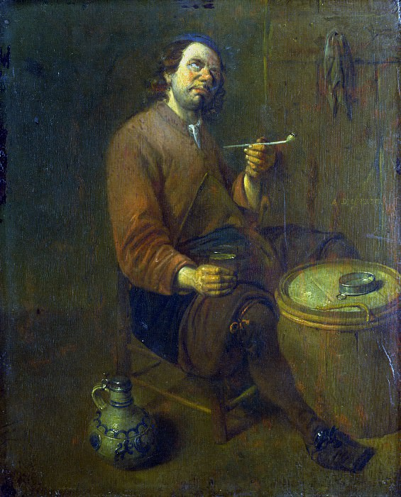 Arent Diepraem - A Peasant seated smoking. Part 1 National Gallery UK