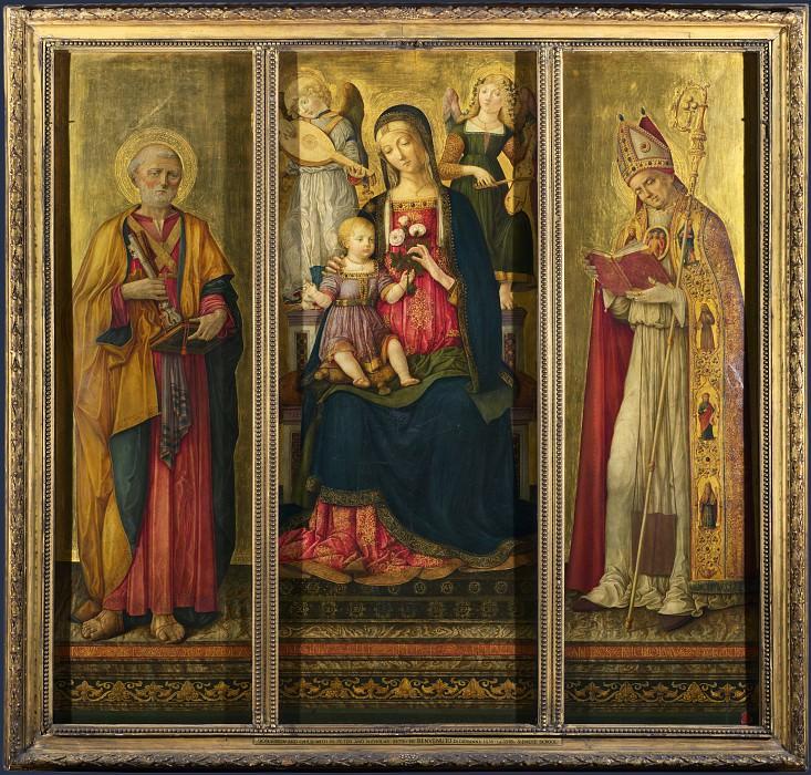 Бенвенуто ди Джованни - Алтарь Мадонна с Младенцем и святыми. Часть 1 Национальная галерея