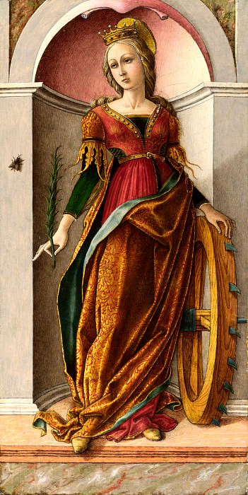 Carlo Crivelli - Saint Catherine of Alexandria. Part 1 National Gallery UK