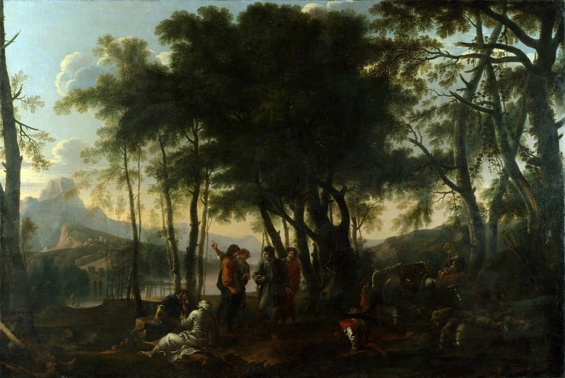 After Salvator Rosa - The Philosophers Wood. Part 1 National Gallery UK