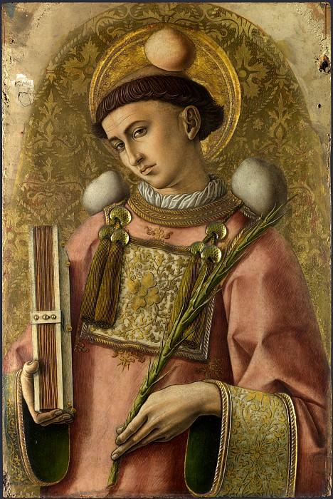 Carlo Crivelli - Saint Stephen. Part 1 National Gallery UK