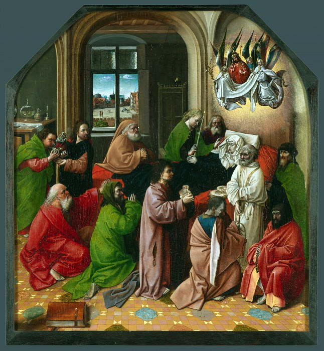 Хуго ван дер Гус (последователь) - Успение Богородицы. Часть 1 Национальная галерея