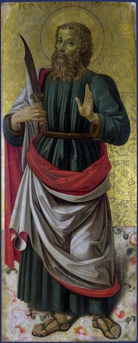 Bartolomeo Caporali - Saint Bartholomew. Part 1 National Gallery UK