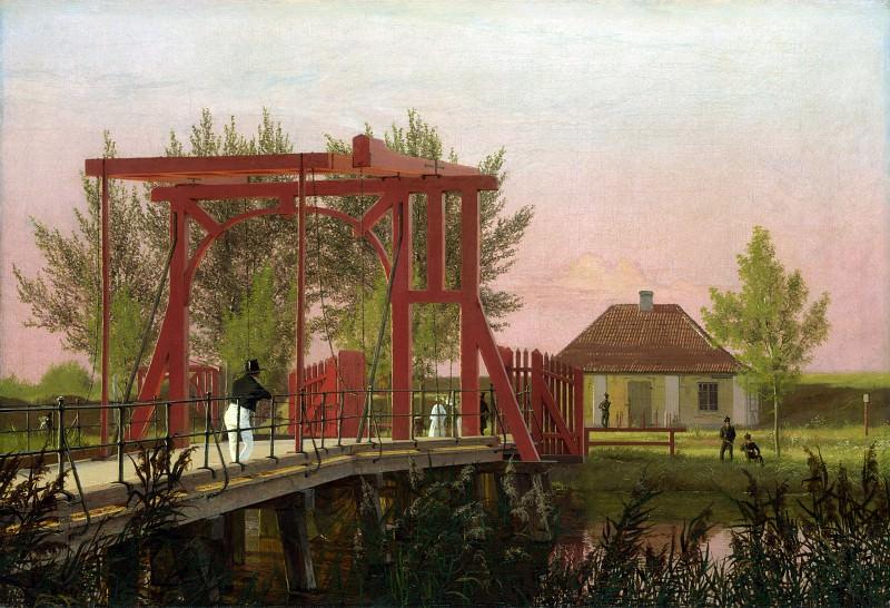 Christen Kobke - The Northern Drawbridge to the Citadel in Copenhagen. Part 1 National Gallery UK