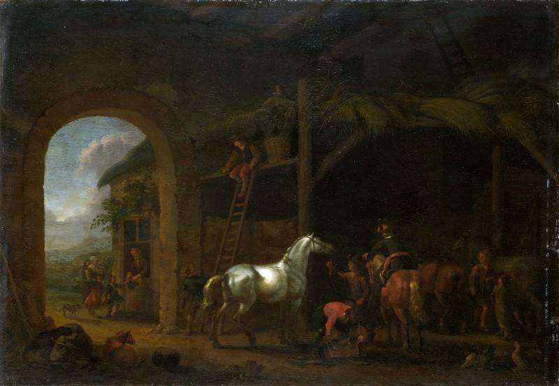 Абрахам ван Кальрат - Интерьер конюшни. Часть 1 Национальная галерея