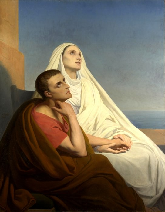 Ary Scheffer - Saints Augustine and Monica. Part 1 National Gallery UK