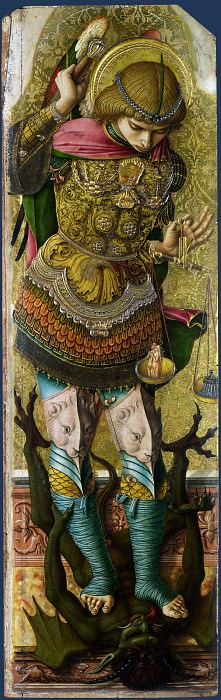 Carlo Crivelli - Saint Michael. Part 1 National Gallery UK