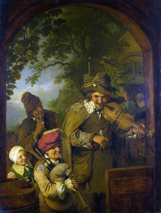 Christian Wilhelm Ernst Dietrich - The Wandering Musicians. Part 1 National Gallery UK