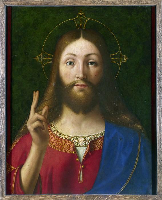 Andrea Previtali - Christ Blessing. Part 1 National Gallery UK