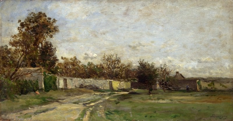 Charles-Francois Daubigny - The Garden Wall. Part 1 National Gallery UK