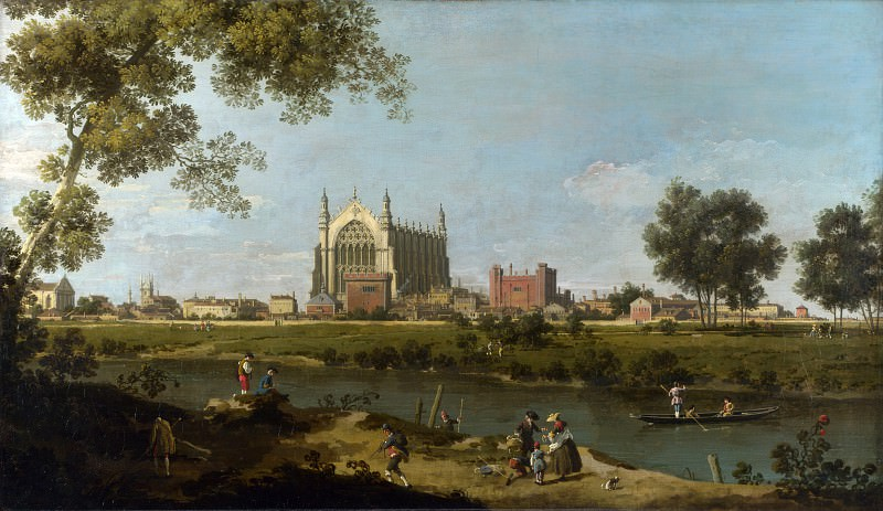 Canaletto - Eton College. Part 1 National Gallery UK
