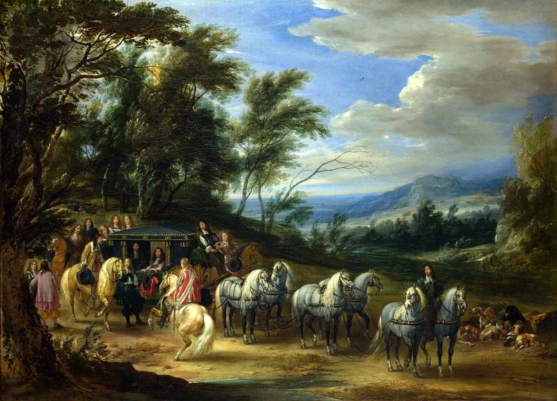 Adam-Francois van der Meulen - Philippe Francois dArenberg meeting Troops. Part 1 National Gallery UK
