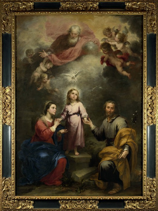 Bartolome Esteban Murillo - The Heavenly and Earthly Trinities. Part 1 National Gallery UK