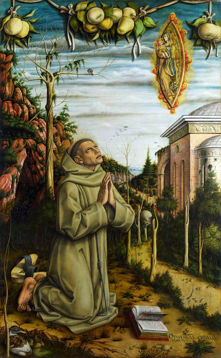 Carlo Crivelli - The Vision of the Blessed Gabriele. Part 1 National Gallery UK